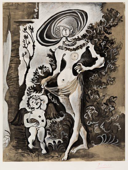 Pablo Picasso Lithograph, Venus et l'Amour voleur de miel (Venus and Cupid, the Honey Thief), 1960