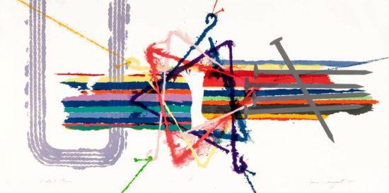 James Rosenquist Lithograph, Violent Turn, 1977