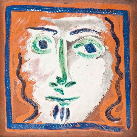 Pablo Picasso Artwork, Visage aux cheveux bouclés (Curly Haired Face), 1968-1969