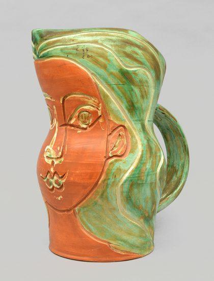 Pablo Picasso Ceramic, Visage de femme (Woman's Face), 1953
