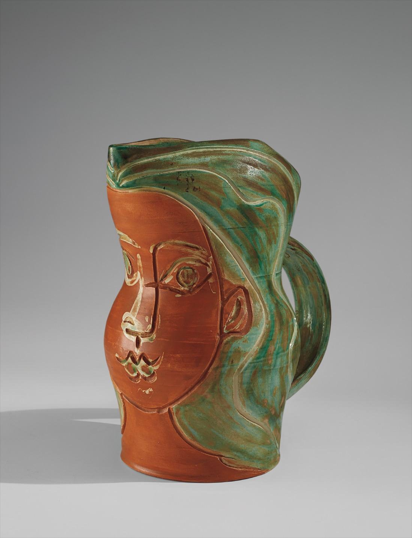 Pablo Picasso Ceramic Visage de Femme (Woman's Face), 1953