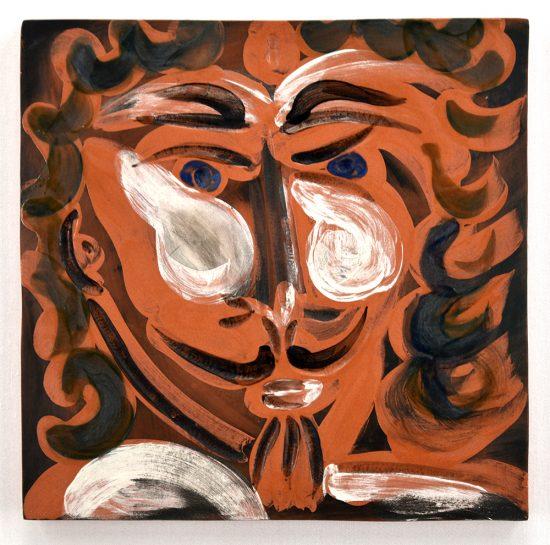 Pablo Picasso Ceramic, Visageà la barbiche (Face with Goatee), 1968-1969 A.R. 600