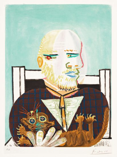 Pablo Picasso Aquatint, Vollard et son Chat (Vollard and His Cat), c. 1960
