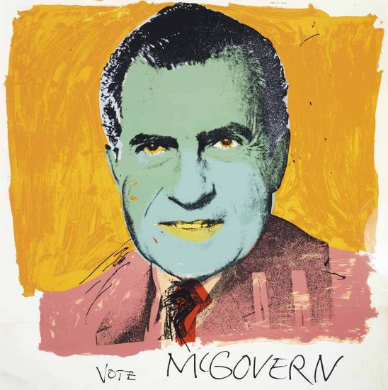 Andy Warhol Screen Print, Vote McGovern, 1972