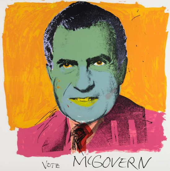 Andy Warhol Lithograph, Vote McGovern, 1972