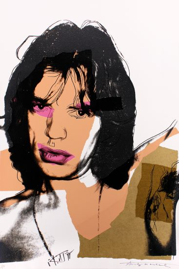 Andy Warhol Lithograph, Warhol and Jagger, Mick Jagger, 1975