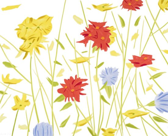 Alex Katz Silkscreen, Wildflowers, 2017
