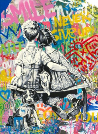 Mr. Brainwash Lithograph, Work Well Together, 2020