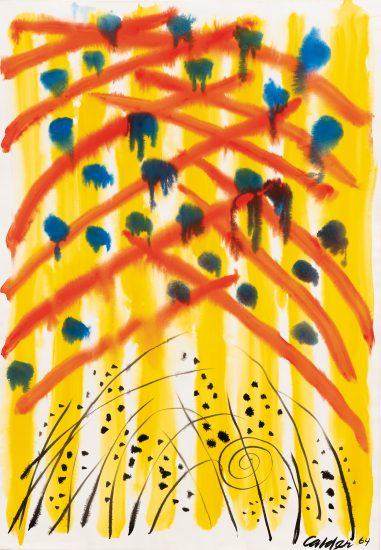 Alexander Calder Gouache, Untitled, 1964
