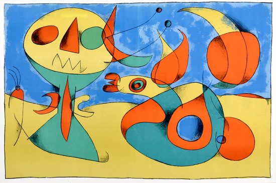 Joan Miró Lithograph, Zephyr Bird