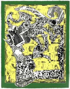 Frank Stella Etching, Green Journal, 1985