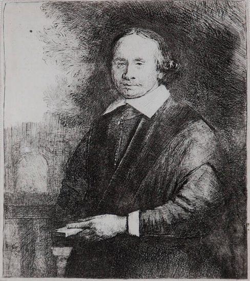 Rembrandt Lithograph, Jan Antonides van der Linden, Professor of Medicine, c. 1665