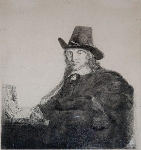 Rembrandt Etching, Jan Asselyn, Painter, c. 1646