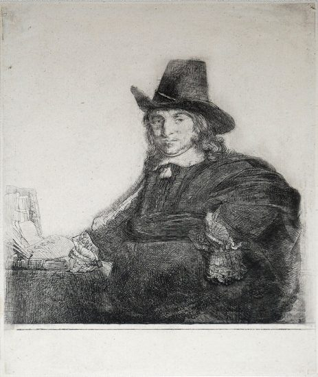 Rembrandt Etching, Jan Asselyn, Painter, 1647