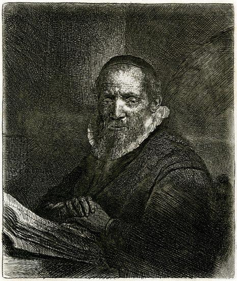 Rembrandt Etching, Jan Cornelis Sylvius, 1633