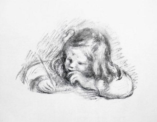 Pierre-Auguste Renoir Lithograph, Le petit garcon au porte-plume (Little Boy with Quill Pen), c.1900