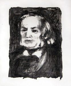 Pierre-Auguste Renoir Lithograph, Richard Wagner, c. 1900