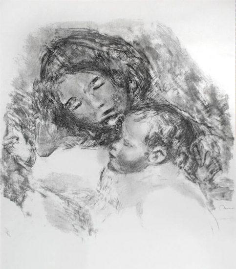 Pierre-Auguste Renoir Lithograph, Maternité, Grande Planche c. 1912