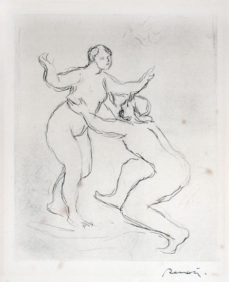 Pierre-Auguste Renoir Etching, Le Fleuve Scamandre, 1re Planche (The Scamandre River, 1st Version)