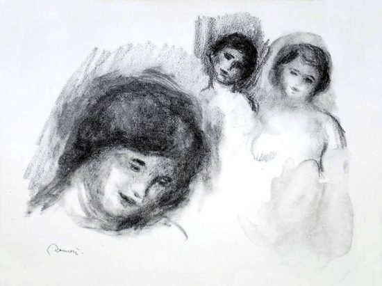 Pierre-Auguste Renoir Lithograph, La Pierre au Trois Croquis (The Stone with Three Sketches), 1904