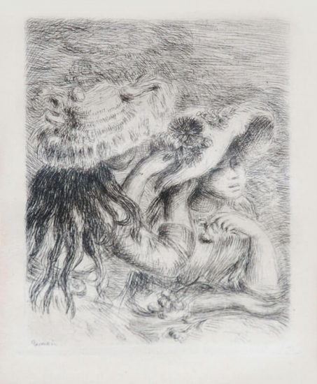 Pierre-Auguste Renoir Etching, Le chapeau épinglé (The Hat Secured with a Pin), c. 1894