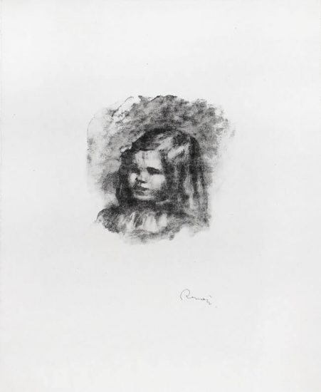 Pierre-Auguste Renoir Lithograph, Claude Renoir, Tourné à Gauche (Claude Renoir, Turning to the Left), c. 1904