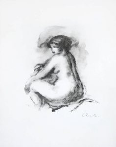 Pierre-Auguste Renoir Lithograph, Etude de femme nue, assise (Study of Seated Female Nude), c. 1904