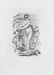 Pierre-Auguste Renoir Lithograph, Femme au cep de vigne, I Variante (Woman by the Grapevine, First Variant),  c. 1904