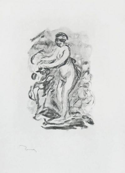 Pierre-Auguste Renoir Lithograph, Femme au cep de vigne, I Variante (Woman by the Grapevine, First Variant),  c. 1904