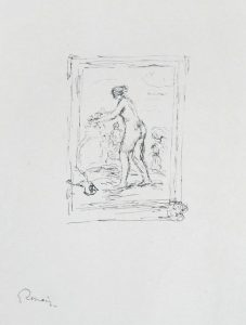 Pierre-Auguste Renoir Lithograph, Femme au cep de vigne, II Variante (Woman by the Grapevine, Second Variant),  c. 1904