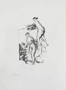 Renoir Lithograph, Femme au cep de vigne, III Variante (Woman by the Grapevine, Third Variant),  c. 1904