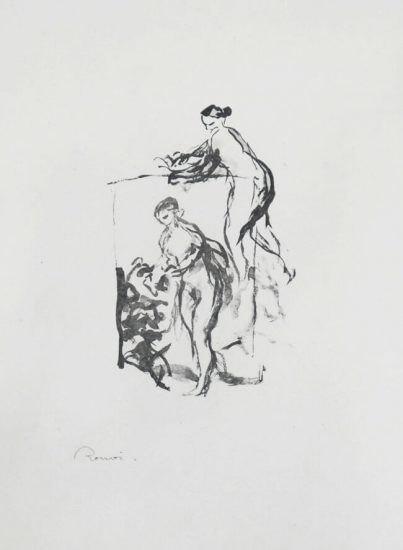 Pierre-Auguste Renoir Lithograph, Femme au cep de vigne, III Variante (Woman by the Grapevine, Third Variant),  c. 1904