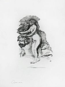 Pierre-Auguste Renoir Lithograph, Femme au cep de vigne (Woman by the Grapevine), c. 1904
