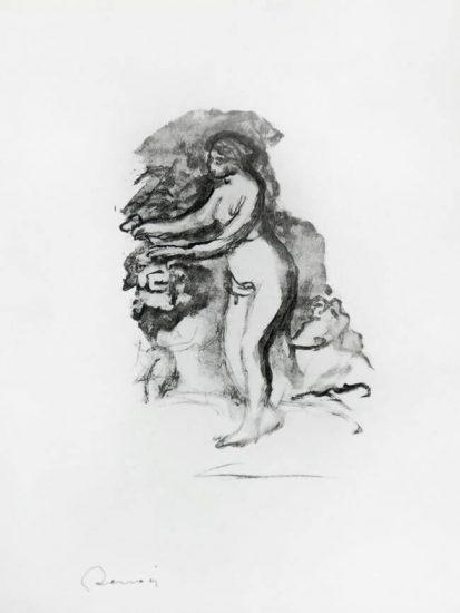 Pierre-Auguste Renoir Lithograph, Femme au cep de vigne (Woman by the Grapevine), c. 1904