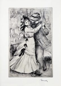 Pierre-Auguste Renoir Etching, La danse à la campagne (The Dance in the Country)