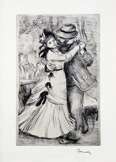 Pierre-Auguste Renoir Etching, La Danse à la Campagne (Dance in the Country)