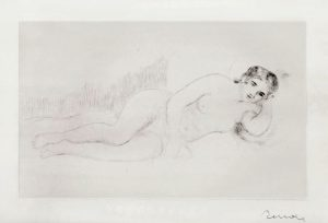Renoir Etching, Femme Nue Couchée (Tournée à Droite), 1st Plate, 1906