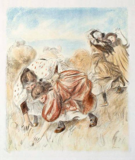 Pierre-Auguste Renoir Lithograph, Enfants jouant à la balle (Children Playing Ball), c. 1900