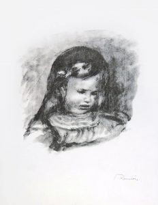 Renoir Lithograph, Claude Renoir, La Tête Baissée (Claude Renoir, Head Lowered), 1904