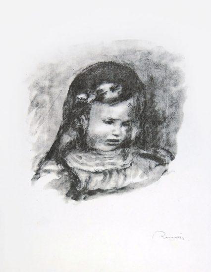 Pierre-Auguste Renoir Lithograph, Claude Renoir, La Tête Baissée (Claude Renoir, Head Lowered), 1904