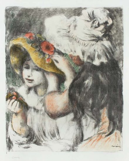 Pierre-Auguste Renoir Lithograph, Le chapeau épinglé (The Hat Secured with a Pin), c. 1898