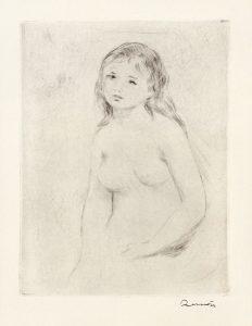 Renoir Etching, Étude pour une baigneuse (Study for a bather), c.1906