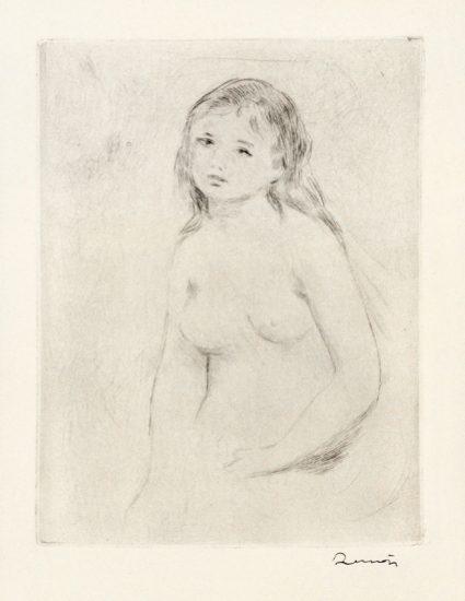 Pierre-Auguste Renoir Etching, Étude pour une baigneuse (Study for a bather), c.1906