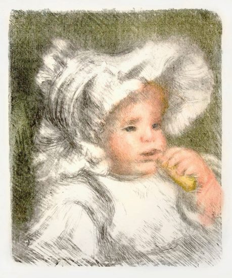 Pierre-Auguste Renoir Lithograph, L'enfant aux biscuit (Child with Cookie) , 1899