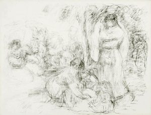 Renoir Lithograph, Les Laveuses (The Washerwomen) 2nd Plate, c. 1910