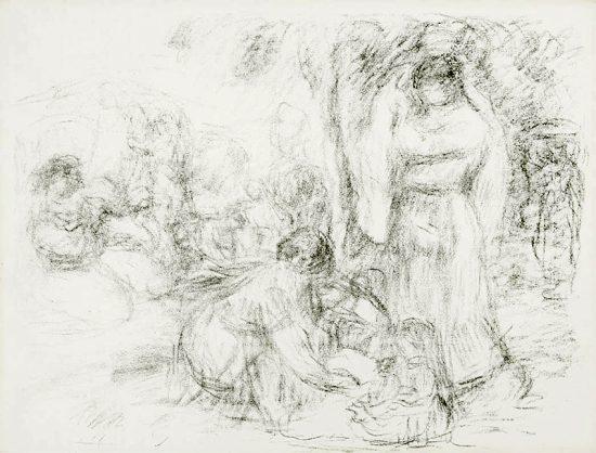 Pierre-Auguste Renoir Lithograph, Les Laveuses (The Washerwomen) 2nd Plate, c. 1910