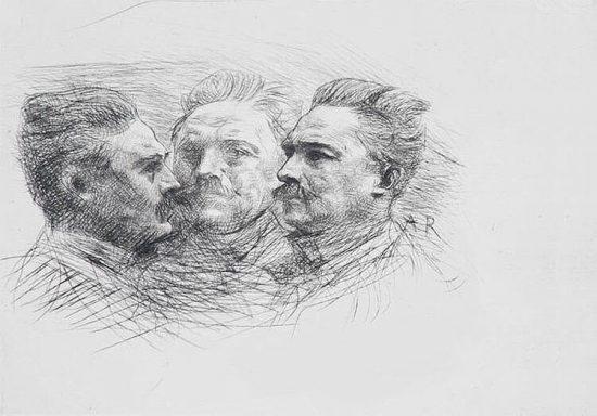 Auguste Rodin Etching, Henri Becque, 1883-1887
