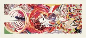 James Rosenquist Lithograph, The Stowaway Peers out at the Speed of Light, 2001