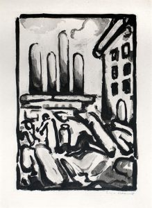 Georges Rouault Etching, Christ au Faubourg (Christ in Faubourg) from Passion, 1935