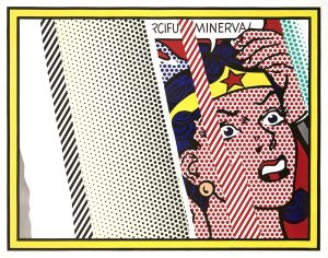 Roy Lichtenstein Lithograph, Reflections on Minerva, 1990 from Reflections, 1990
